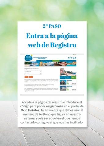 Page 7 of Tutorial Ocio Hoteles registro