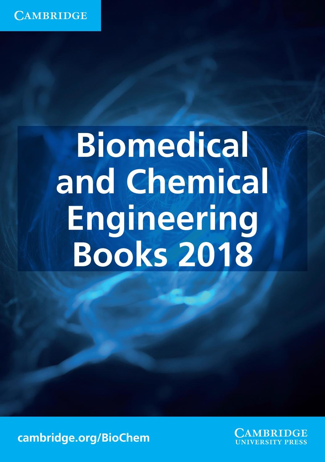 Biomedical and Chemical Engineering 2018 by Cambridge University Press -  issuu