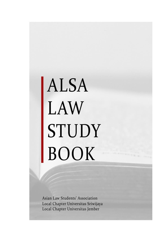 Alsa Law Study Book By Alsa Lc Unsri Issuu