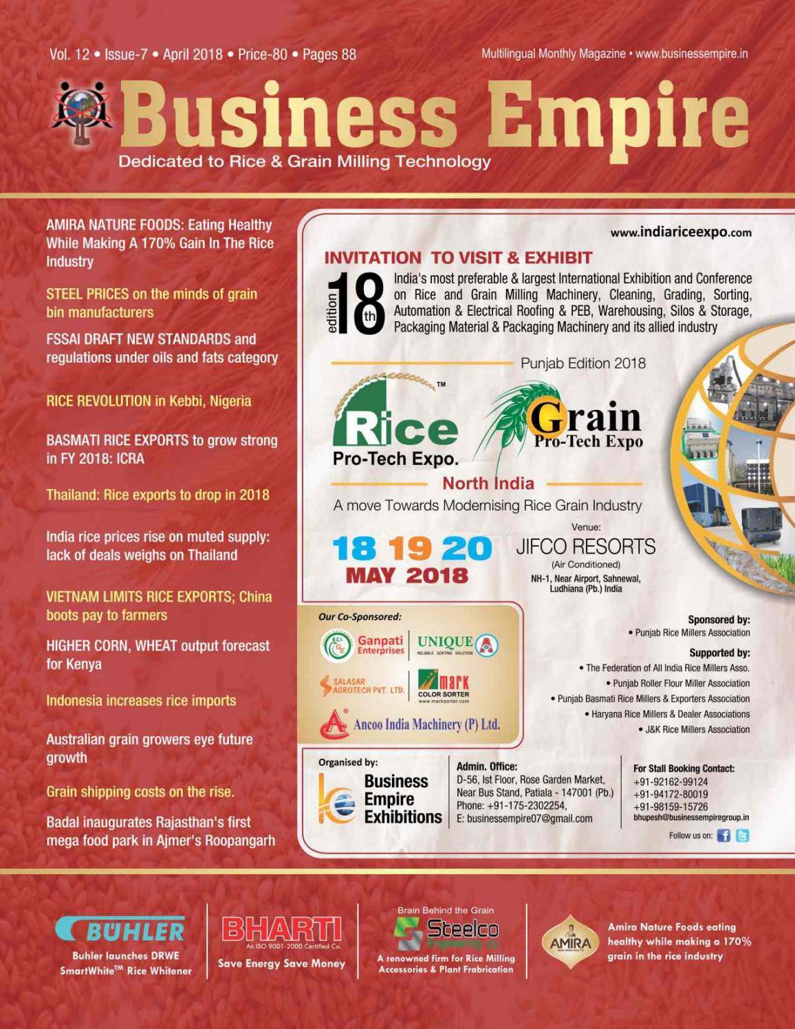 Business Empire Grain Milling Magazine April 2018 Edition By Bhupesh Gupta Issuu
