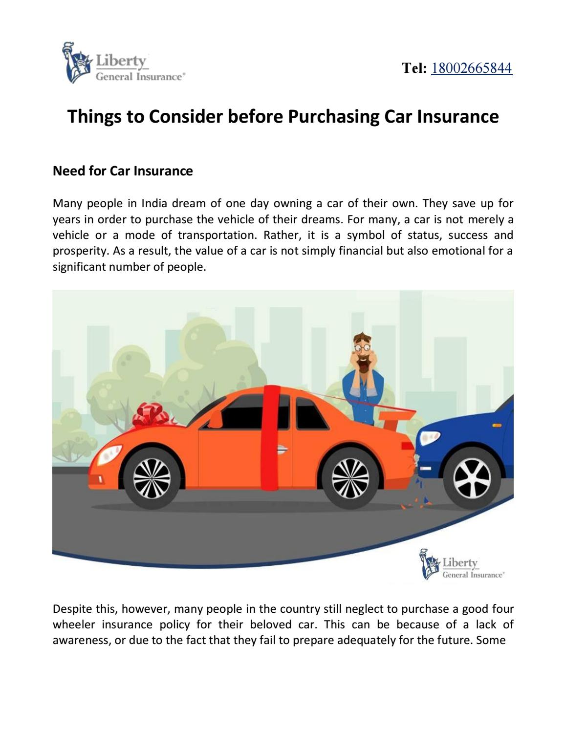 Country Financial Car Insurance >> Things To Consider Before Purchasing Car Insurance By