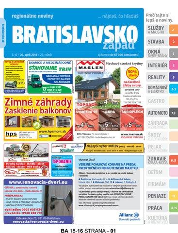Bratislavsko 18-16 by Bratislavsko Bratislavsko - issuu 90a52868ef9