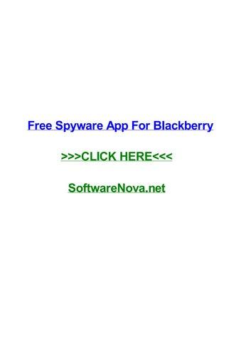 free blackberry spyware