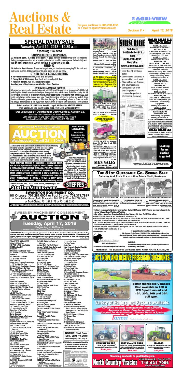 April 12, 2018 Auctions & Real Estate by Madison com - issuu