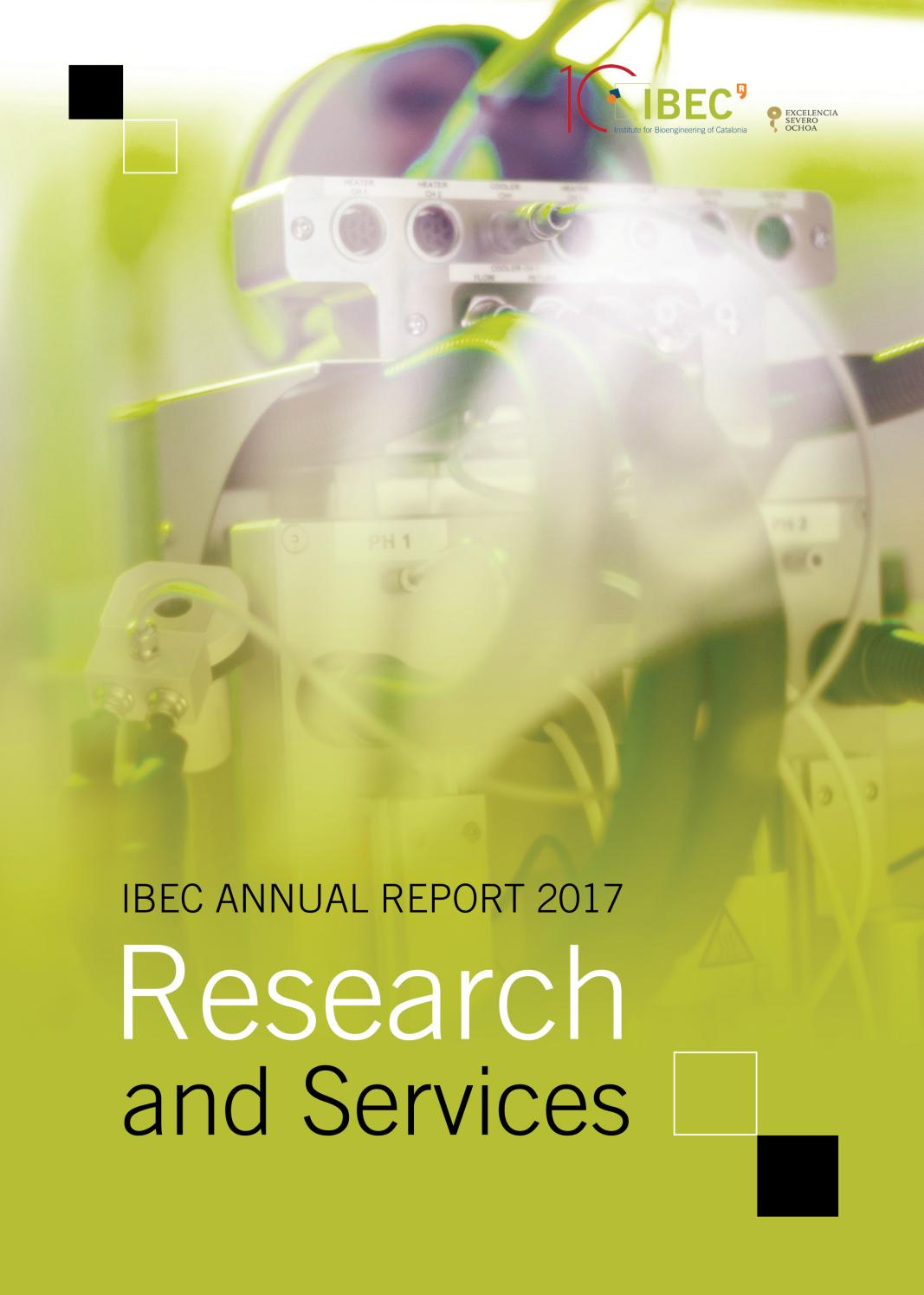 IBEC Annual Report 2017, part 2: Research and services by