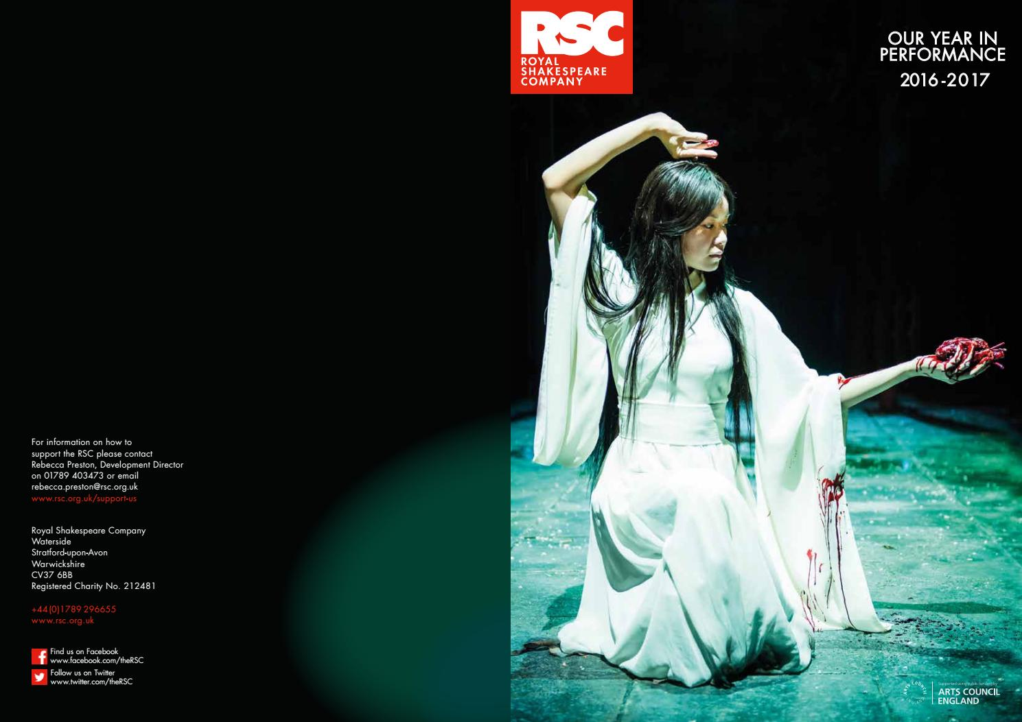 RSC Year in Performance 2016 17 by Royal Shakespeare Company