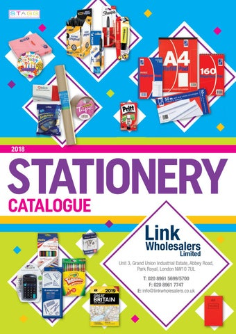 STAGG Stationery Catalogue LW 2018 by STAGG Distributors - issuu