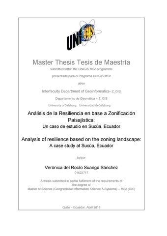 Análisis De La Resiliencia En Base A Zonificación