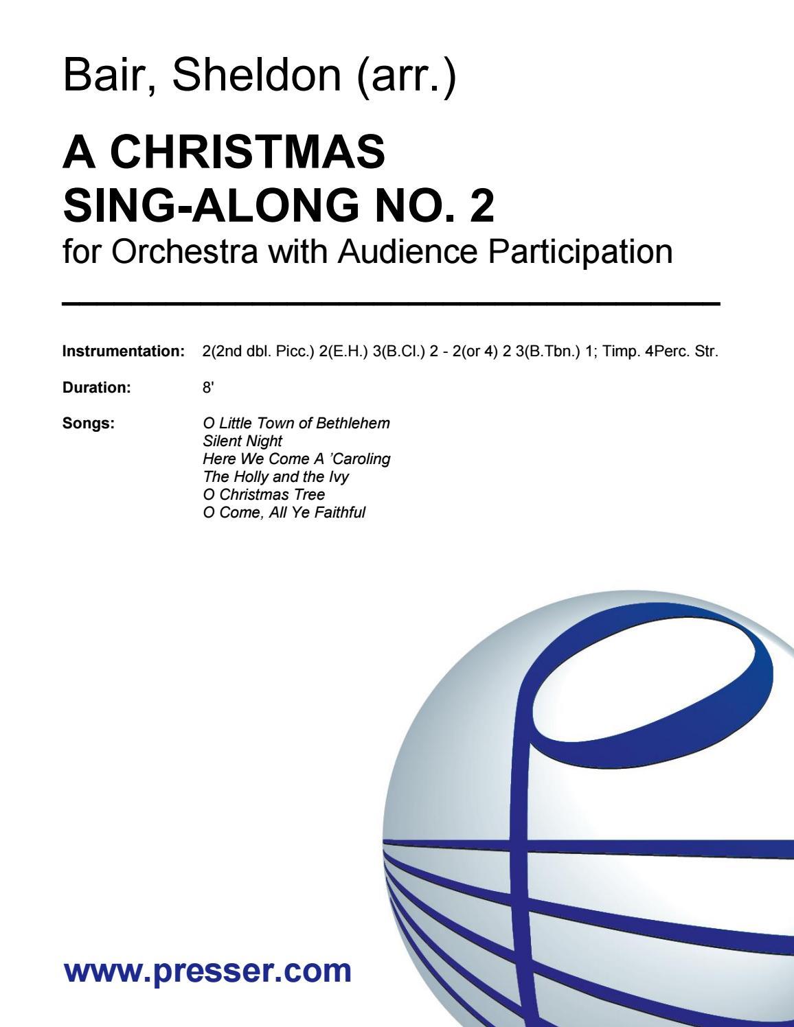 Bair: A Christmas Sing-Along No. 2 by Theodore Presser Co. - issuu