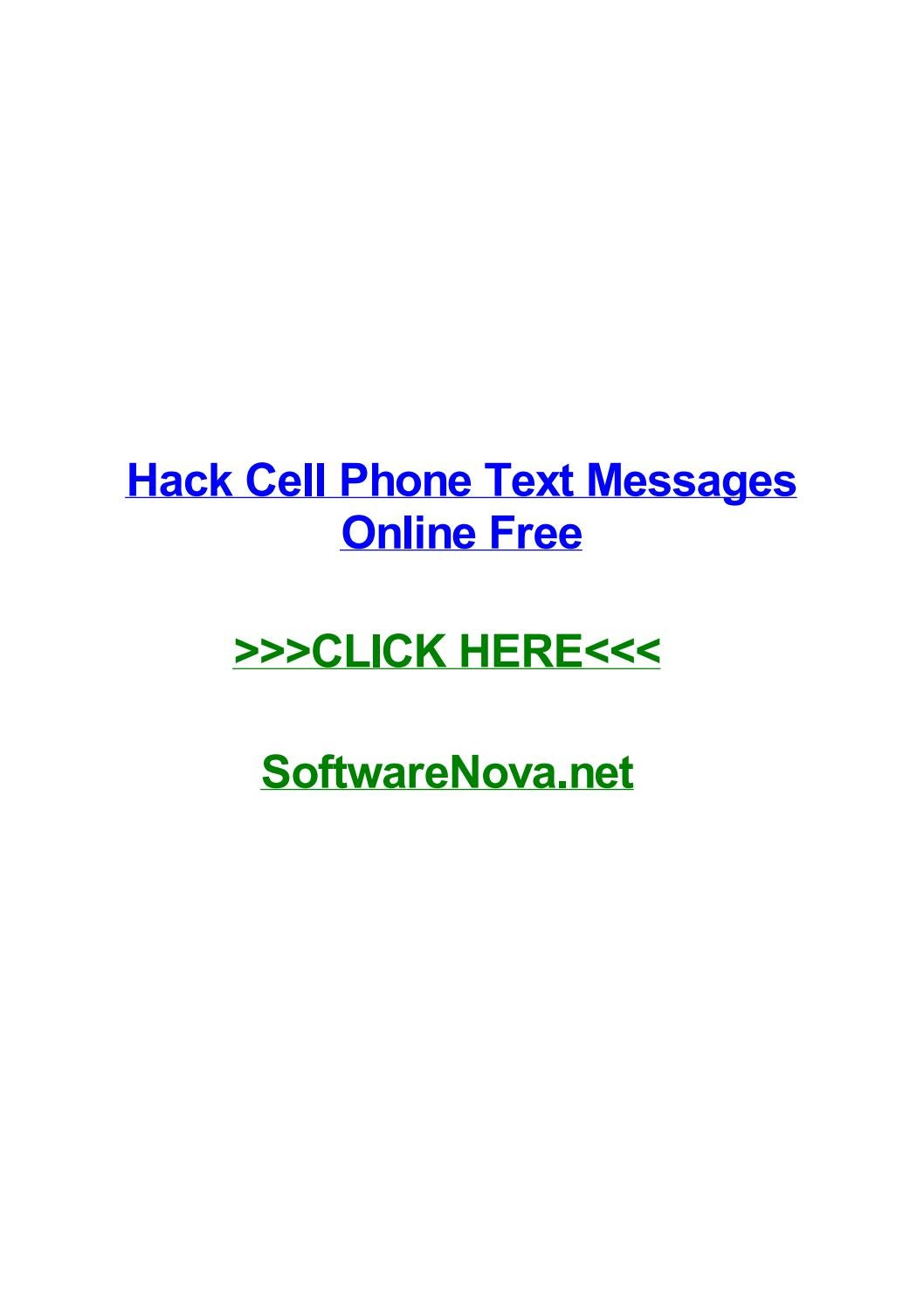 Hack cell phone text messages online free by davidiayz - issuu