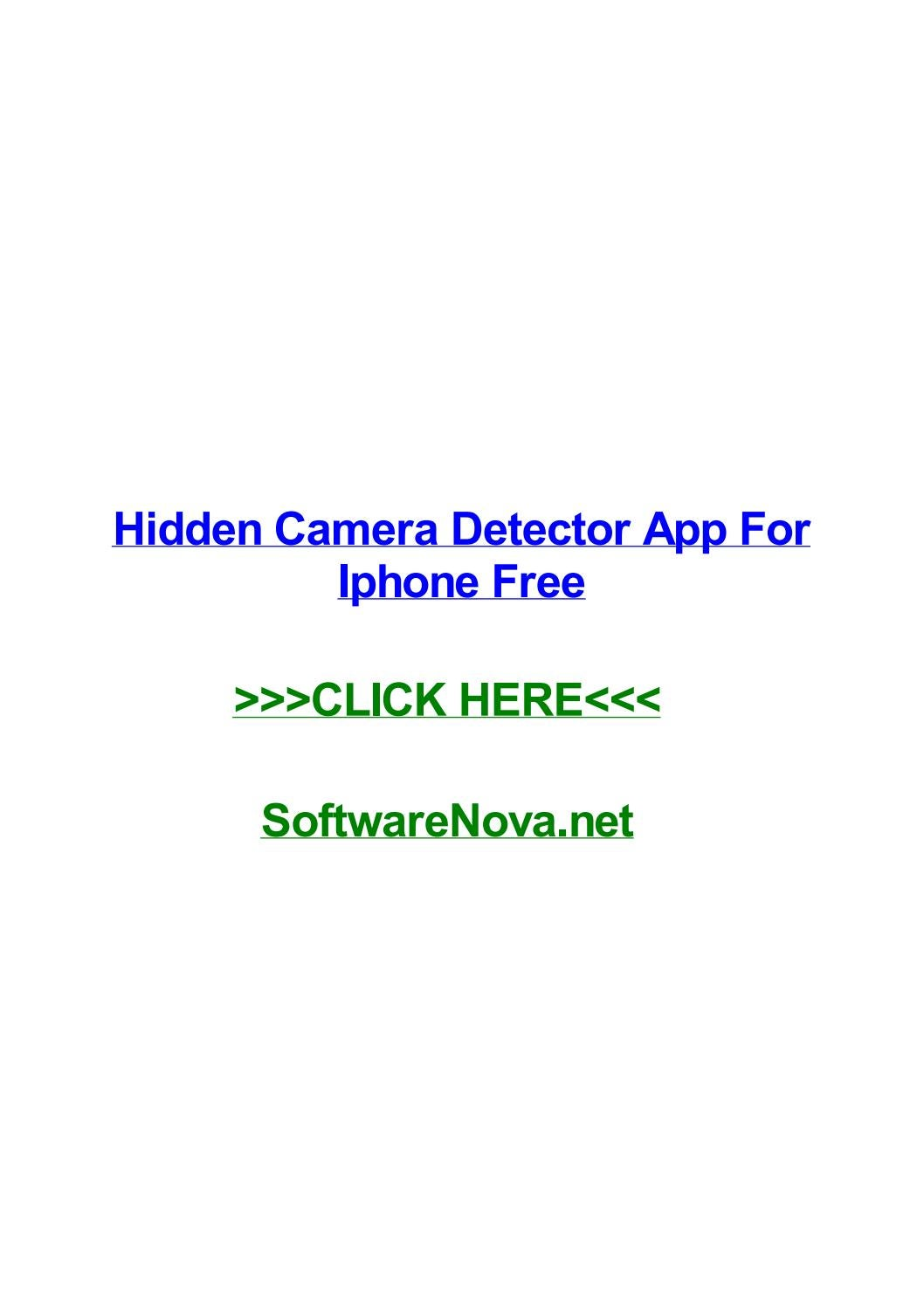 Hidden camera detector app for iphone free by melissapprm