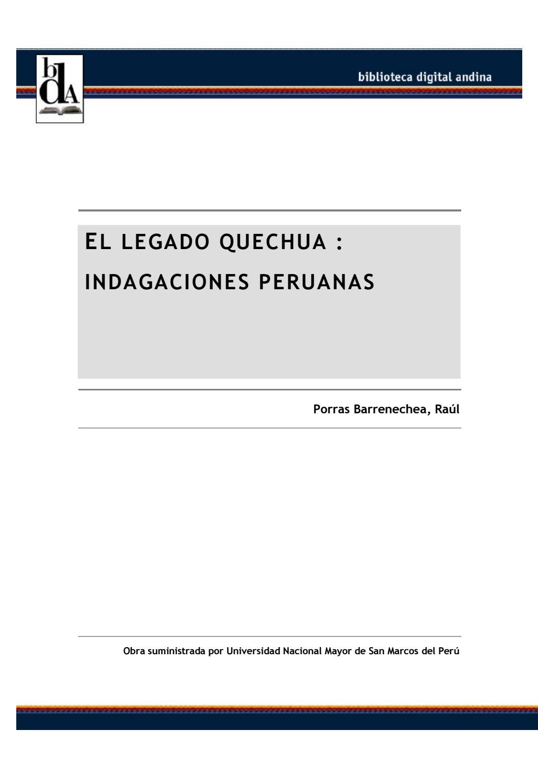 c5802b22d9 El legado quechua by gin b cárdenas - issuu