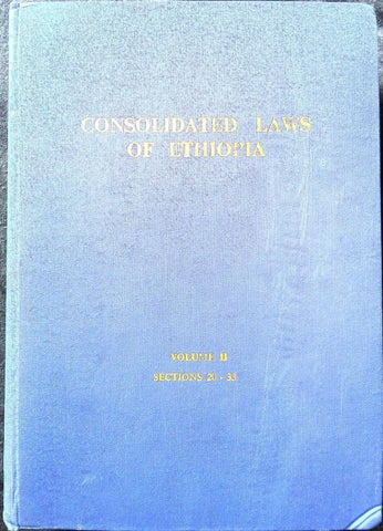 ad3c70ef093bd Consolidated Laws of Ethiopia Vol. II (1972)  Part 1  by ...