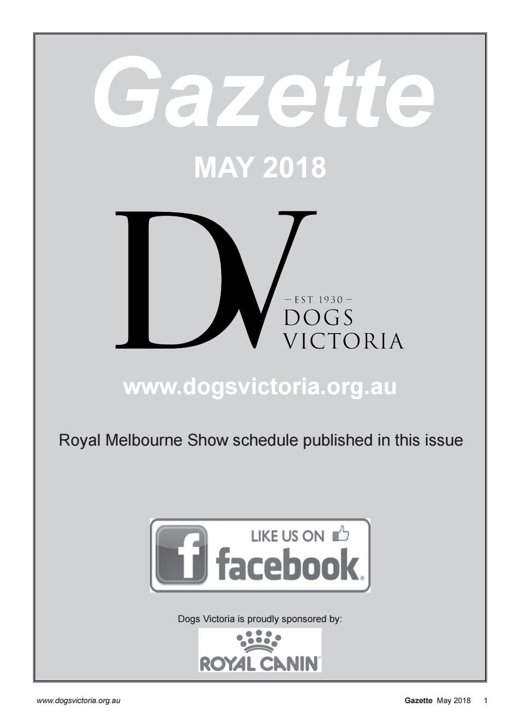 Dogs Victoria Gazette - May 2018 by Dogs Victoria - issuu