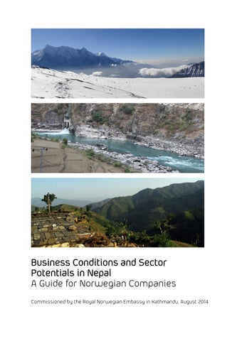Business Conditions and Sector Potentials in Nepal A Guide