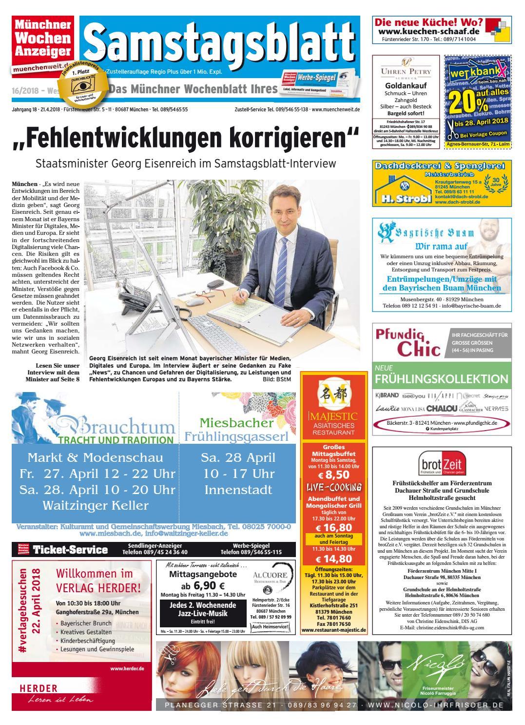 6f9af04c710243 KW 16-2018 by Wochenanzeiger Medien GmbH - issuu