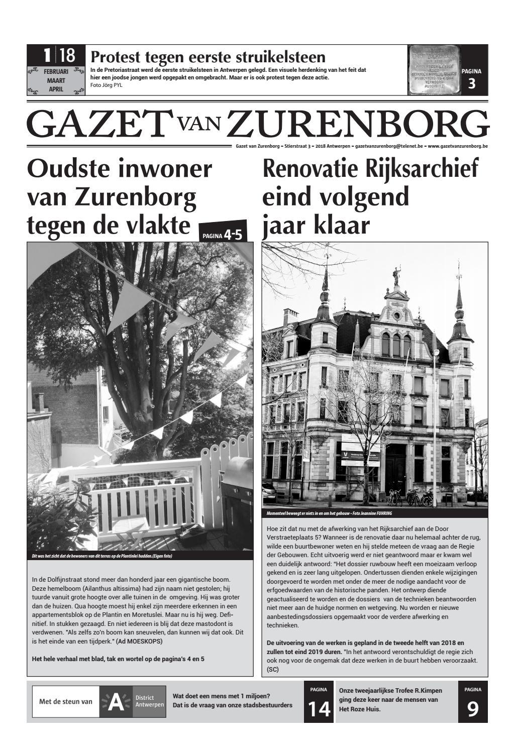 Gazet Van Zurenborg 2018 Editie 1 By Gazet Van Zurenborg Issuu