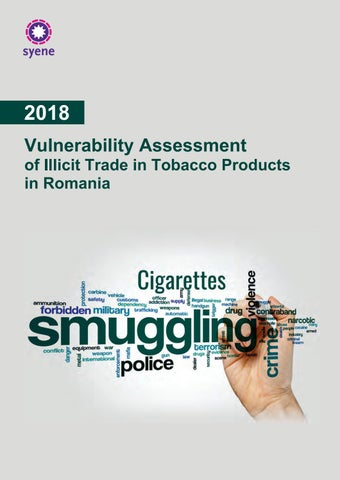Vulnerability Assessment of Illicit Trade in Tobacco Products in