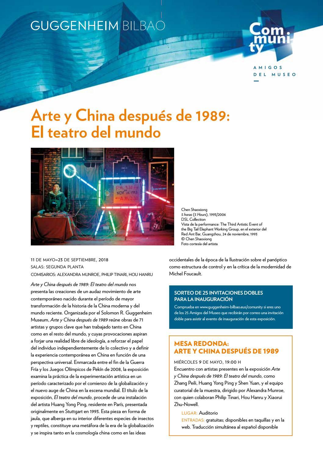 Comunicado Mayo 2018 By Museo Guggenheim Bilbao Issuu