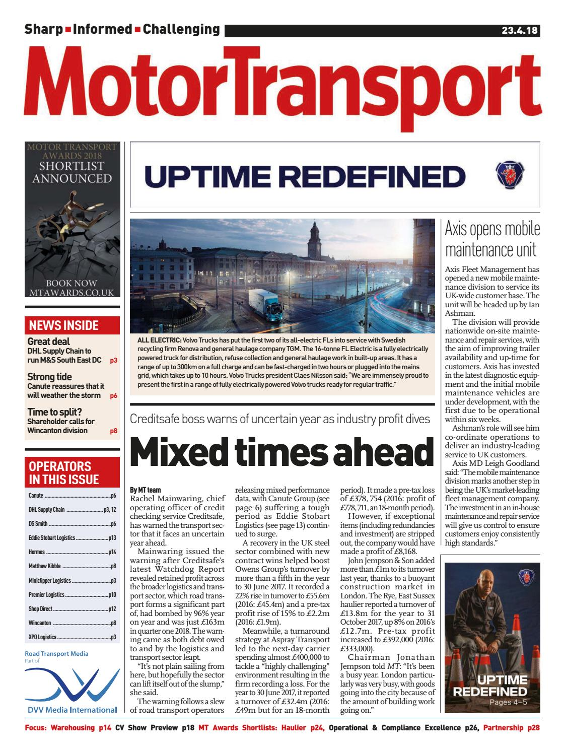 6d8dfc410f Motor Transport 23 April 2018 by Motor Transport - issuu