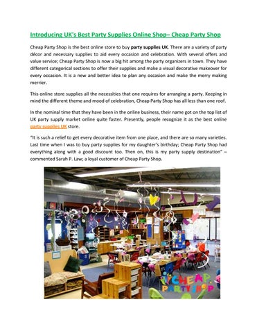Party supplies uk   party supplies online by cheappartyshop - issuu