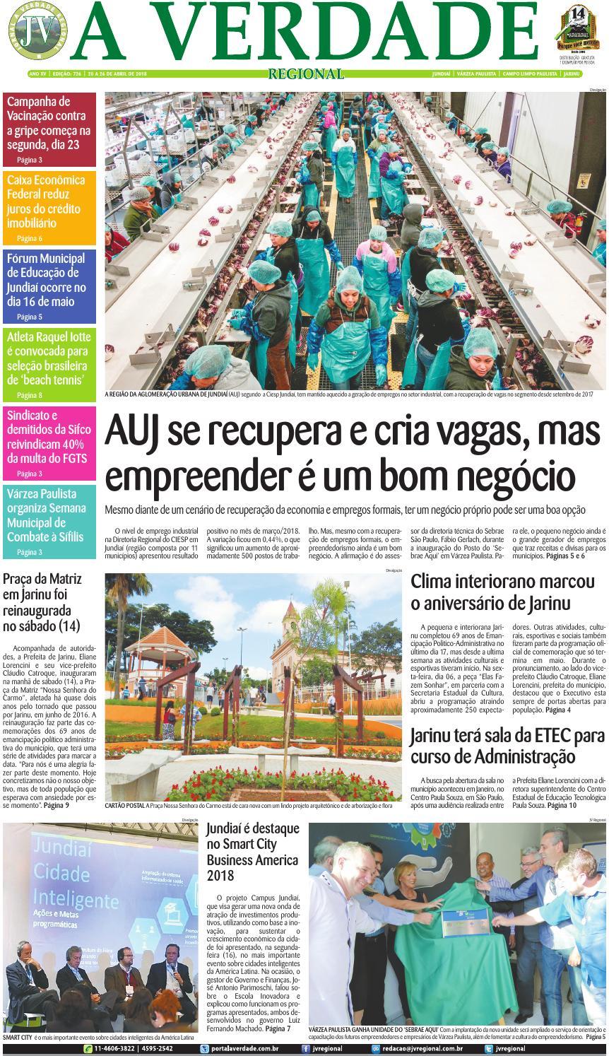 25938e652d8 JV Regional ® - Edição 726 by Jornal A Verdade Regional - issuu