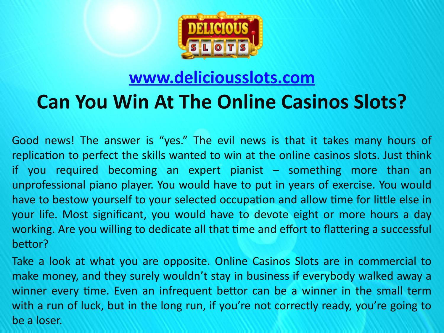 Can You Win At Slots