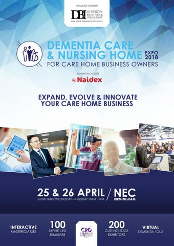 Dementia Care & Nursing Home Expo Showguide 2018 by Prysm Group - issuu