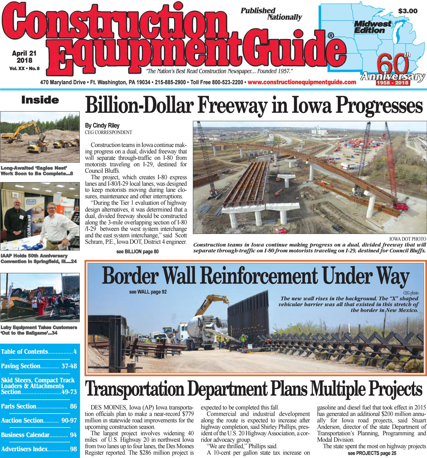 Midwest 8 April 21, 2018 by Construction Equipment Guide - issuu