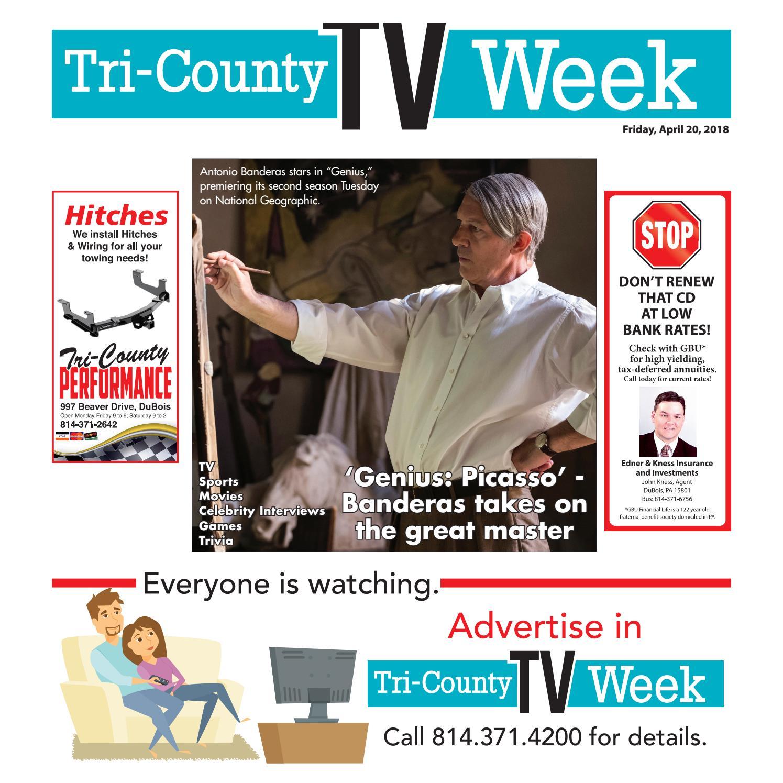 cf5e372b7f5 TV Week Friday, April 20, 2018 by Tri-County TV Week - issuu