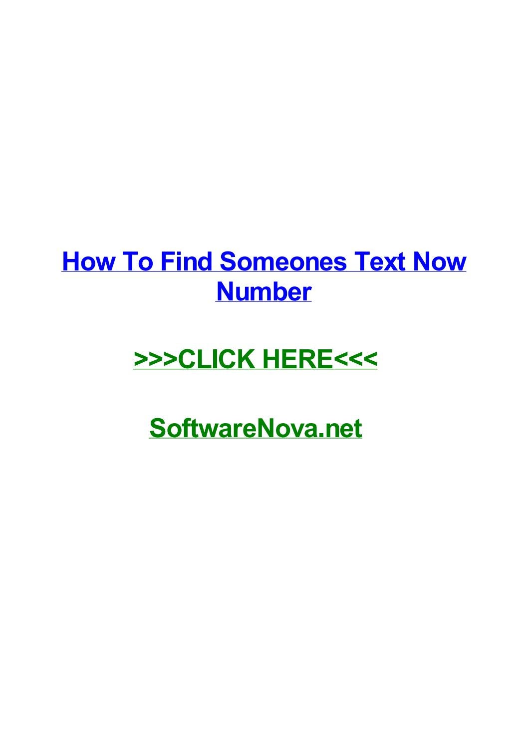 How to find someones text now number by jennaelbbw - issuu