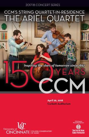 The Ariel Quartet: Program for April 26, 2018 by UC's
