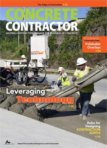Concrete Contractor April 2018 by ForConstructionPros com