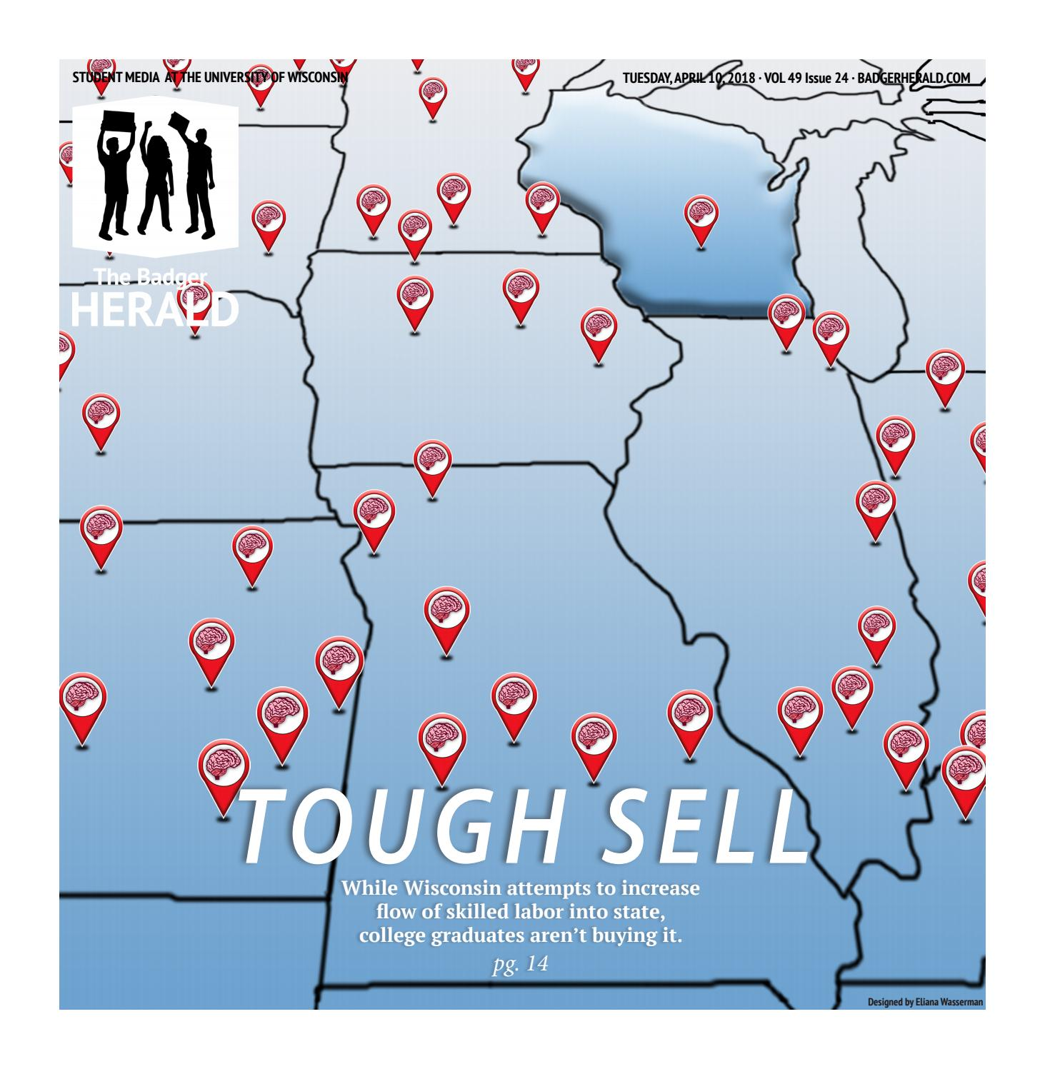 Why Blue Eyed Wisconsinites Tended To >> Tough Sell Volume 49 Issue 24 By The Badger Herald Issuu