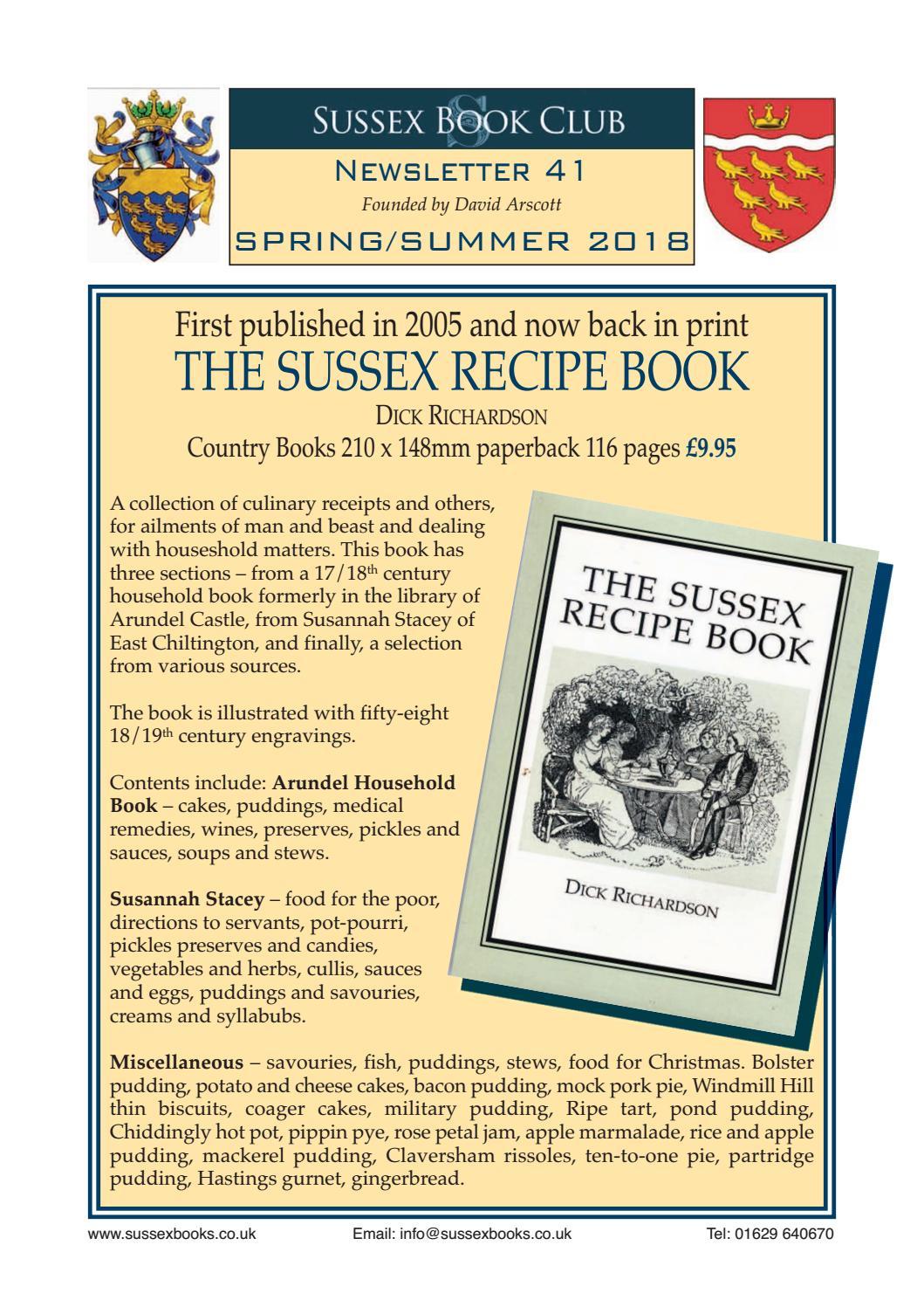 Sussex Book Club Spring/Summer 2018 Newsletter 41 by Sussex