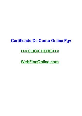 Certificado De Curso Online Fgv By Georgetxmtg Issuu