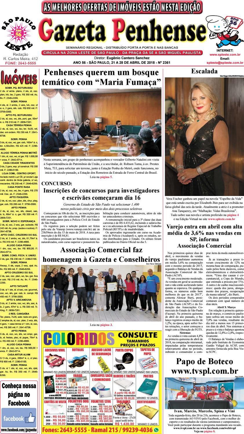 ef63d71f4 Gazeta Penhense edição 2361 - 21 a 28.04.18 by Marcelo Cantero - issuu