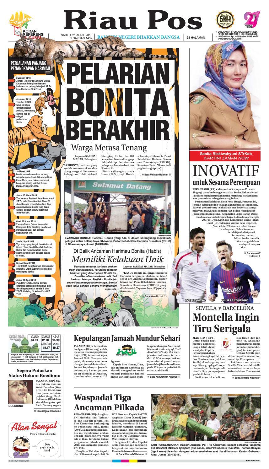 2018 04 21 By Riau Pos Issuu Rejeki Anak Soleh Mamypoko Standar M34