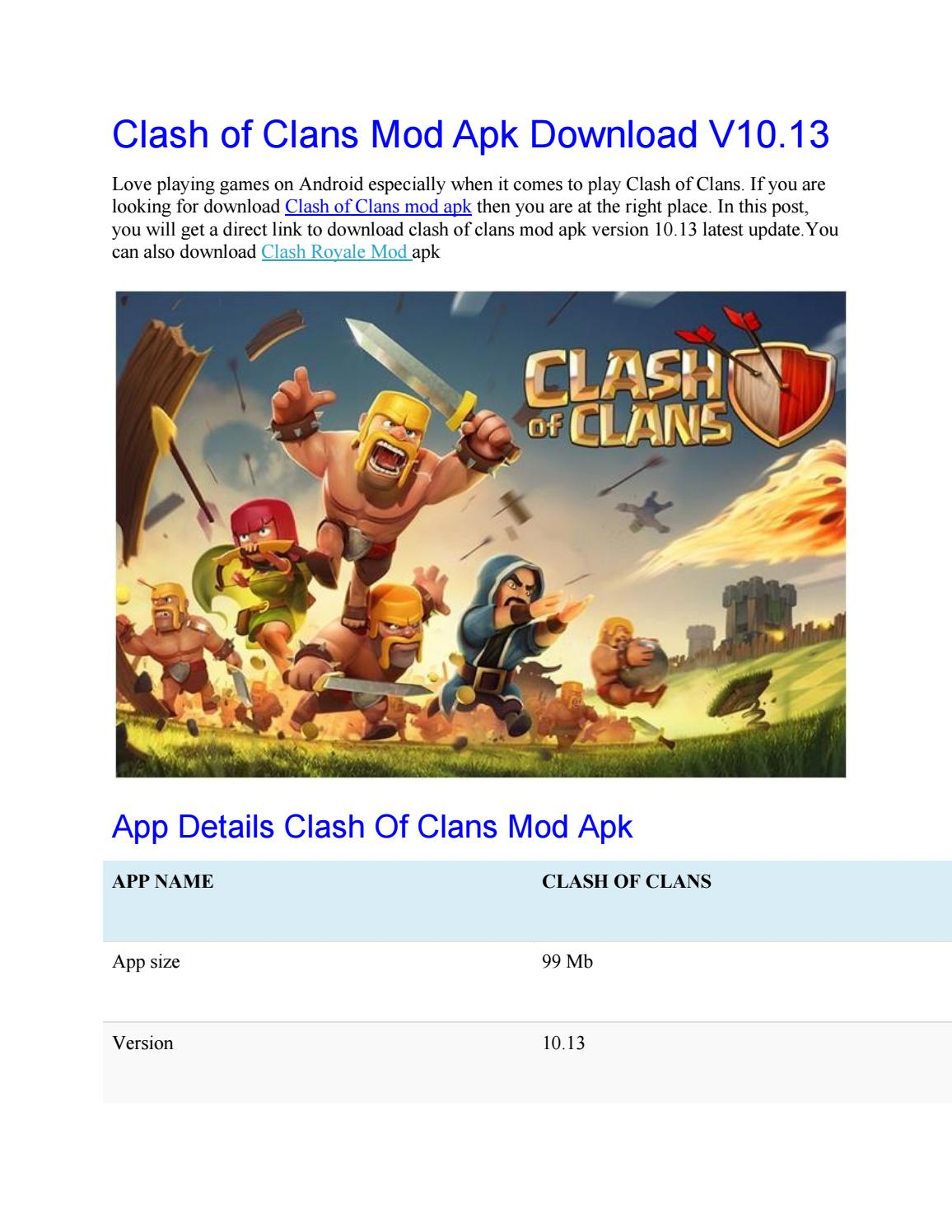Clash of clans mod apk download v10 by seoclub - issuu