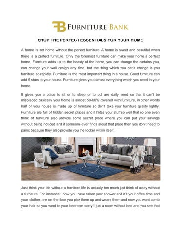 SHOP THE PERFECT ESSENTIALS FOR YOUR HOME A Home Is Not Home Without The  Perfect Furniture. A Home Is Sweet And Beautiful When There Is A Perfect  Furniture.