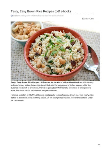 Vegkitchen com tasty easy brown rice recipes pdf e book by otcsrinu tasty easy brown rice recipes pdf e book vegkitchenvegkitchen pdf e bookstasty easy brown rice recipes pdf e book december 11 2013 forumfinder Gallery