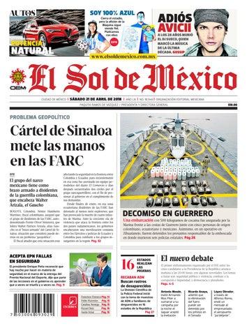 El Sol de México 21 de abril 2018 by El Sol de México - issuu 746395fcffc