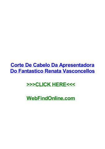 Corte De Cabelo Da Apresentadora Do Fantastico Renata Vasconcellos