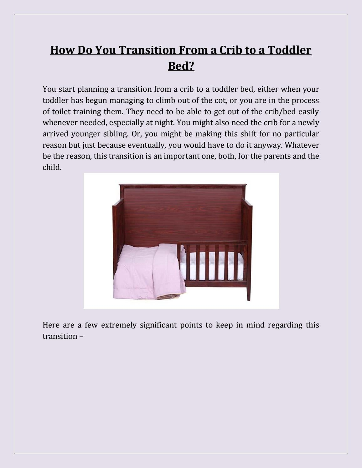 How do you transition from a crib to a toddler bed by LalcoInteriors - issuu