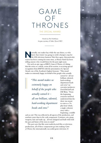 Page 27 of The Special Award: Game of Thrones feature