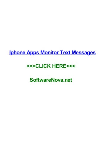 Is there an app to monitor text messages iphone