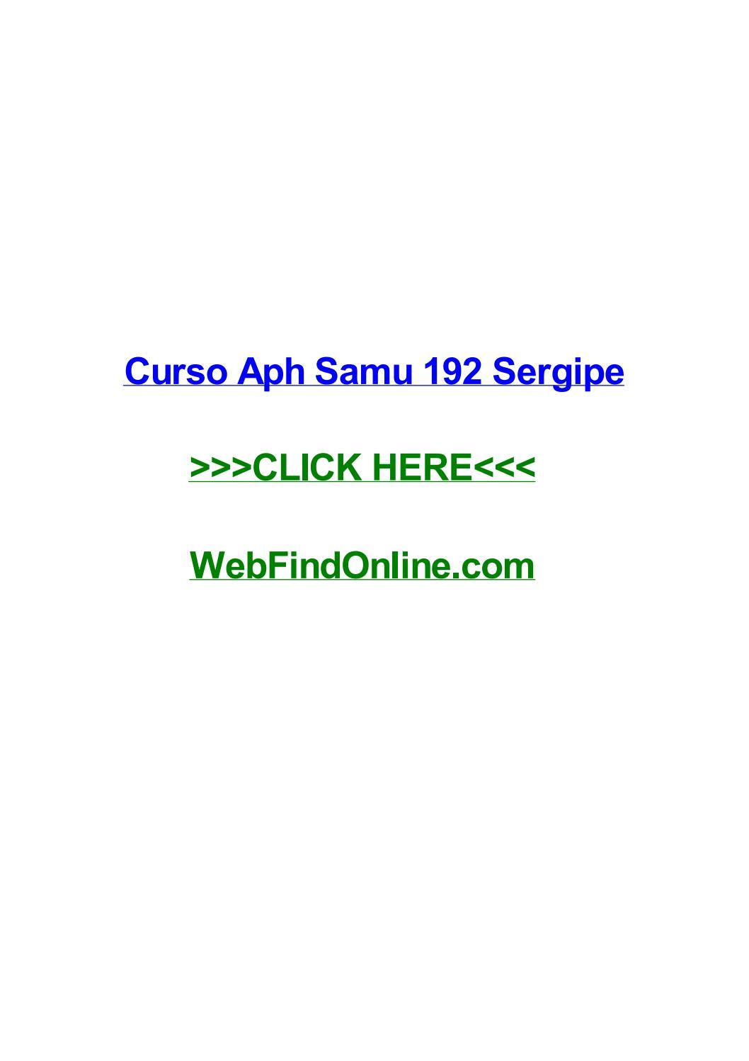 curso de aph avançado online