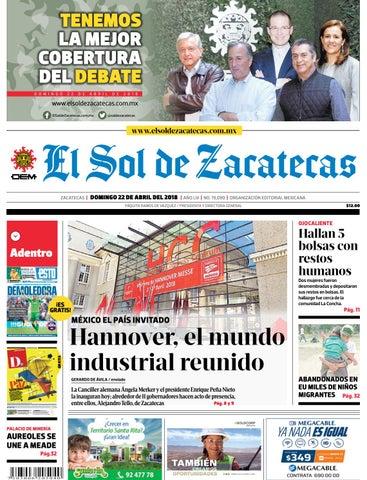 El Sol de Zacatecas 22 de abril 2018 by El Sol de Zacatecas - issuu 46f975a943a9e