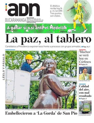 Adn Bucaramanga Del Sabado 21 De Abril Del 2018 By Diarioadn Co Issuu