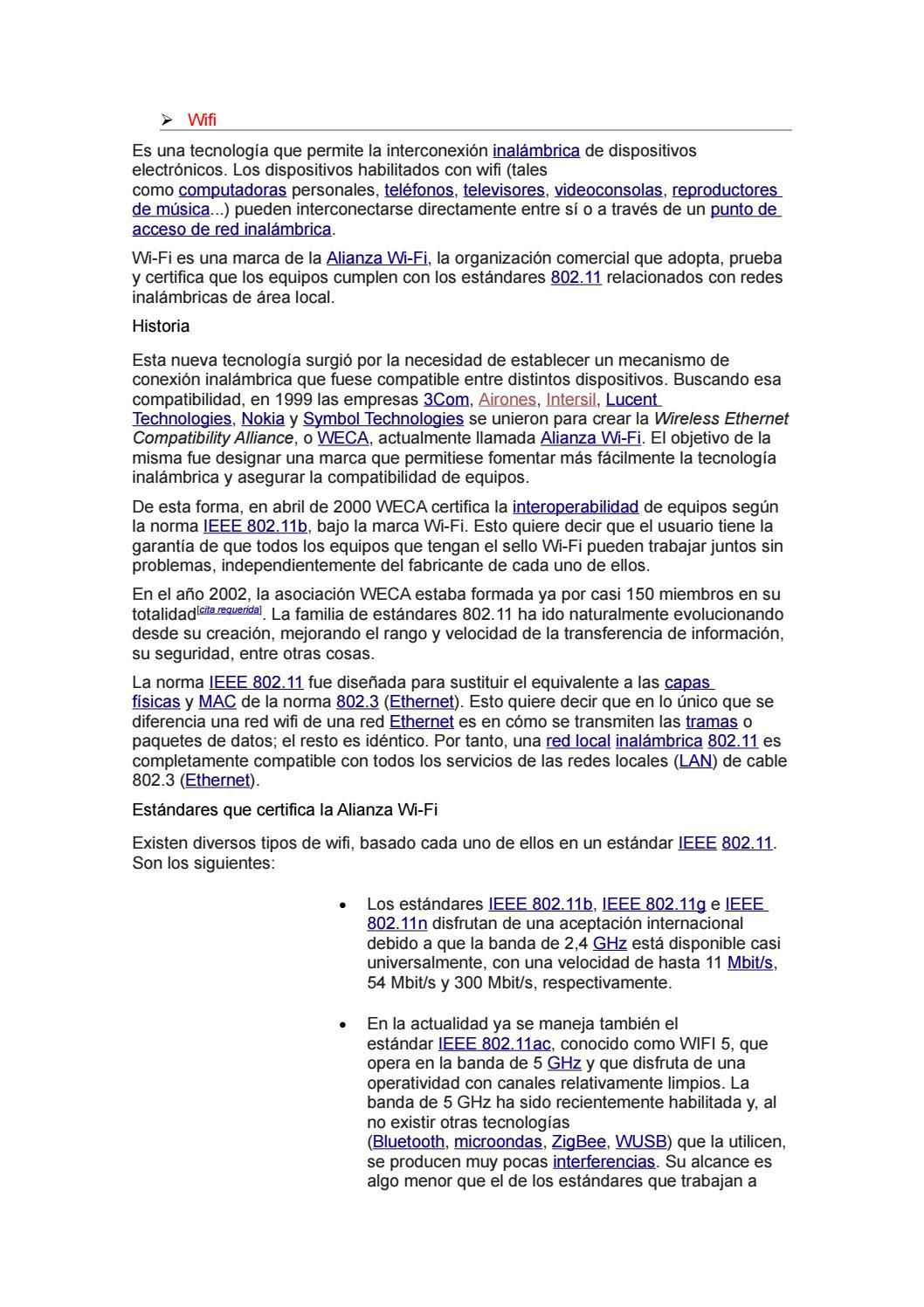 Wi fi y wi max trabajo de investigacion[1] by Georgel Espinoza - issuu